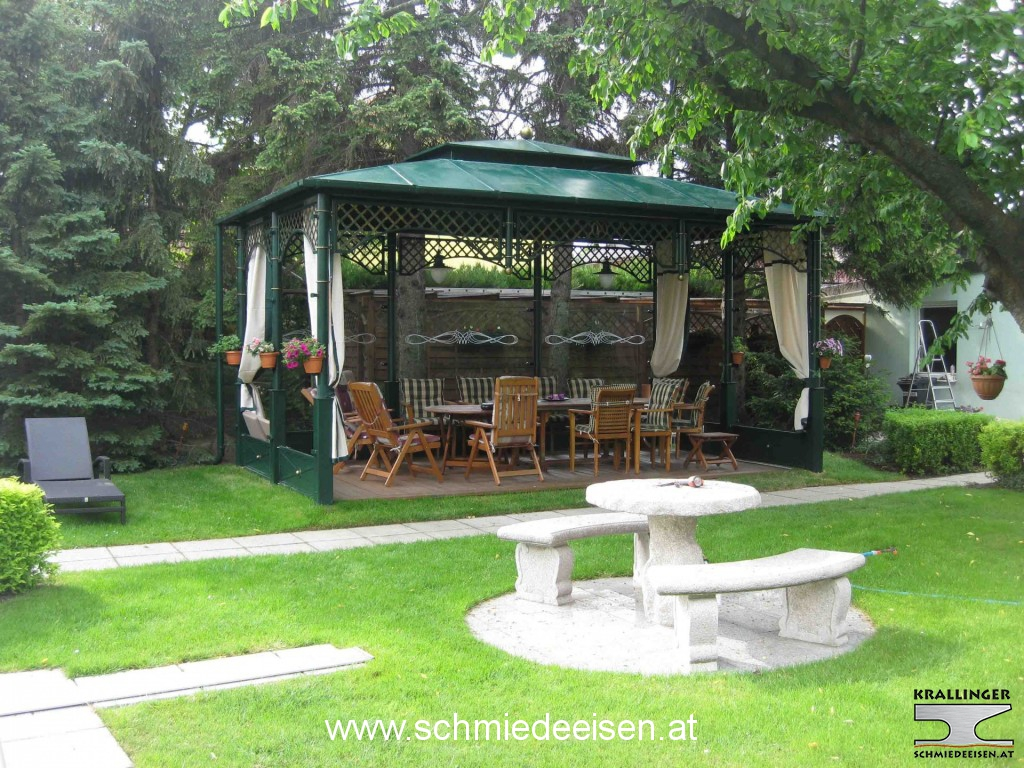 pavillon schmiedeeisen. Black Bedroom Furniture Sets. Home Design Ideas